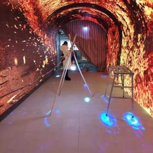 新疆广汇集团OL星辰汇LED时光隧道屏案例