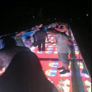 河南焦作温县LED玻璃栈道网红玻璃桥案例