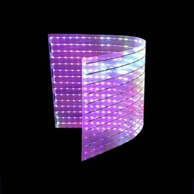 led贴膜屏P4贴膜led透明柔性屏