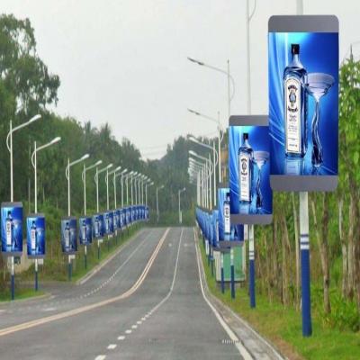 led灯杆屏P2.976智慧路灯全彩广告电子显示屏厂家直销